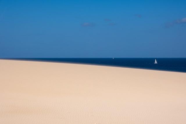 Le ciel, la mer, le sable et le vent