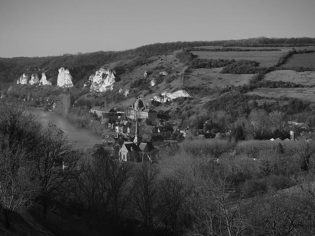 Le Petit Andely et la Seine vus de Château Gaillard