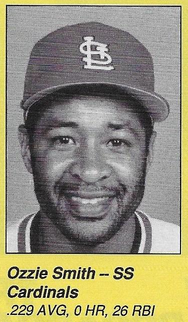 1990 All-Star Program Inserts - Smith, Ozzie