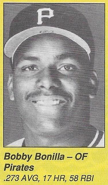 1990 All-Star Program Inserts - Bonilla, Bobby