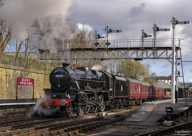 Black Five 45407 'The Lancashire Fusilier' - Bury Bolton Street Station
