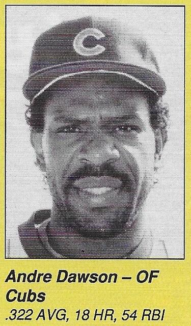 1990 All-Star Program Inserts - Dawson, Andre