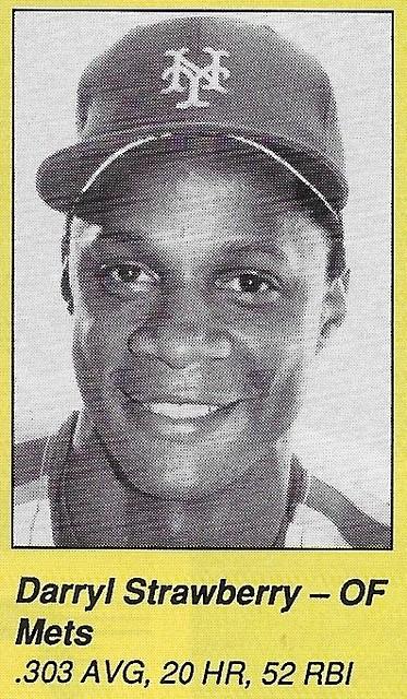 1990 All-Star Program Inserts - Strawberry, Darryl