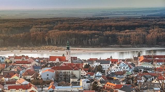 View of Hainburg an der Donau