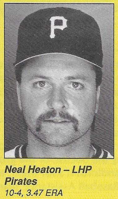 1990 All-Star Program Inserts - Heaton, Neal