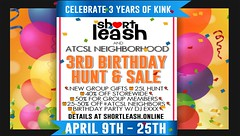 ⭐️ Short Leash & ATCSL's 3rd Birthday Hunt & Sale ⭐️