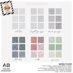 Atelier Burgundy . Marble Floor TSS