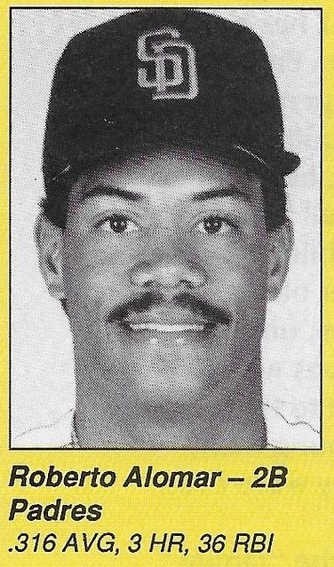 1990 All-Star Program Inserts - Alomar, Roberto