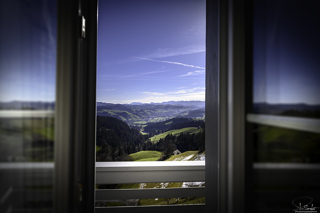 Window view from Moosegg - Lauperswil - Bern - Switzerland