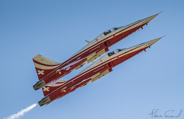 Swiss Air Force Patrouille Suisse Northrop F-5E Tiger II J-3085 J-3091