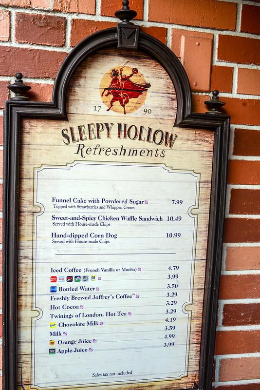Sleepy Hollow menu MK