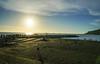 中山大學 海堤夕陽