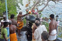 Cérémonie religieuse au temple de Koneswaram en l'honneur de Shiva