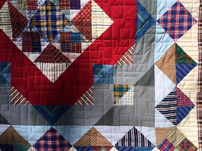 Detail of Hubby's quilt