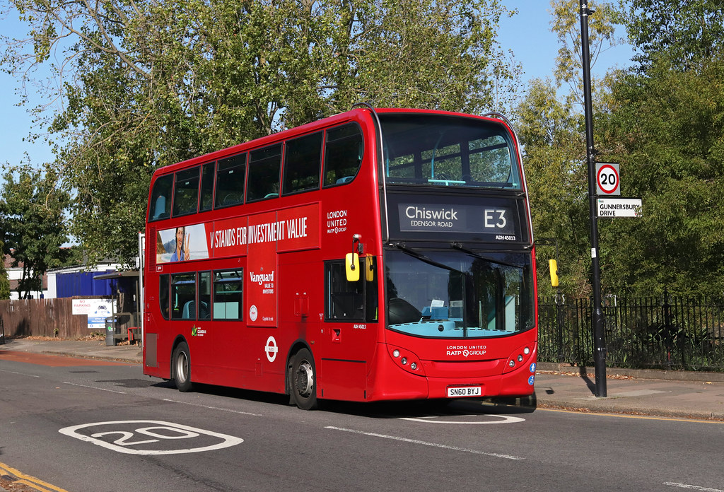 Route E3, London United, ADH45013, SN60BYJ