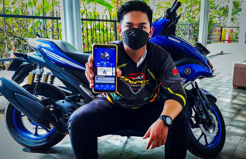 Dewangga Saputra merasakan manfaat aplikasi My Yamaha Motor