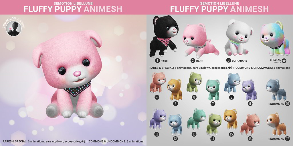 SEmotion Libellune Fluffy Pupppy Animesh