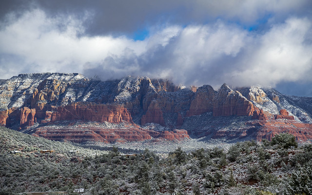 Snowy Red Rocks