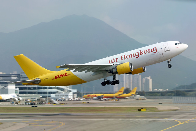 Air Hong Kong - DHL A300-605R B-LDD departing HKG/VHHH