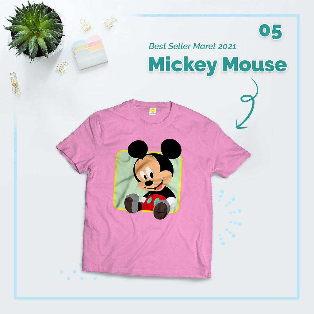 Kaos Mickey & Minnie Mouse