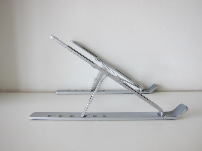 OEM Portable Laptop Stand - Unfolded - Side