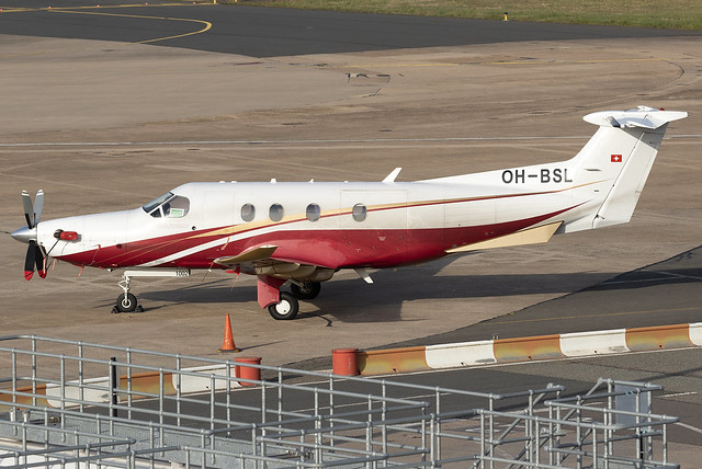 Fly 7 Executive Aviaton PC-12/47 E OH-BSL at Birmingham Airport BHX/EGBB