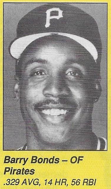 1990 All-Star Program Inserts - Bonds, Barry