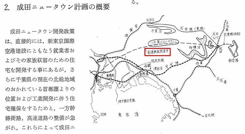 成田新幹線ルートと千葉ニュータウン (1)