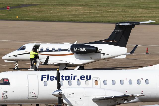 Jet Story Embraer Phenom 300 M-YAIC at Birmingham Airport BHX/EGBB