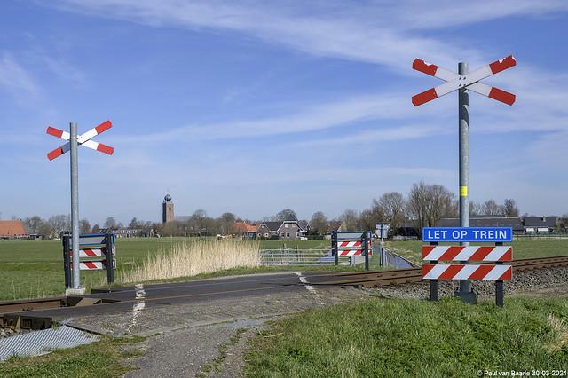 Deinum - Spoorwegovergang, 30-03-2021