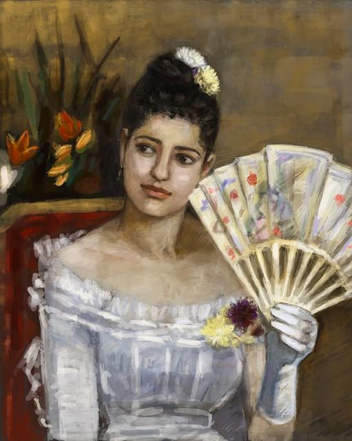 """En el baile""_  Berthe Morisot 1875 ... ipad art"