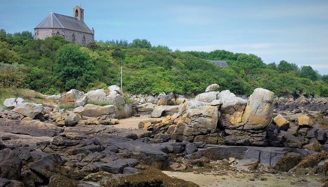 Chausey Islands, Notre-Dame chapel, low tide