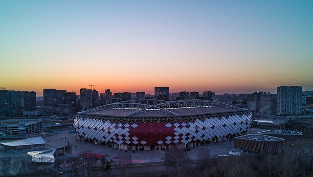 The sports stadium of the Spartak team in Moscow.