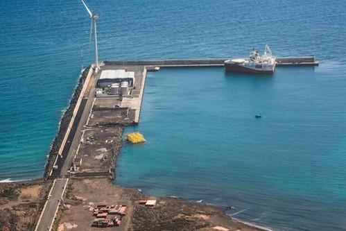 Vista aérea del Puerto de Arinaga