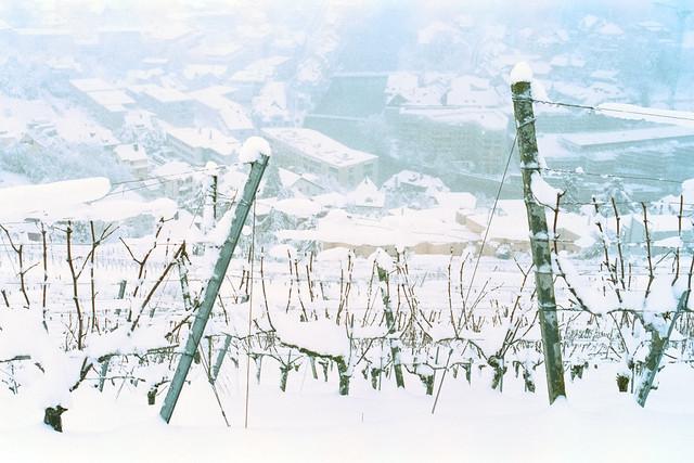 Winter scene 28 - Looking down on Baden