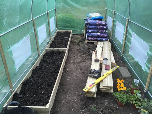 Polytunnel - Raised Beds Installed