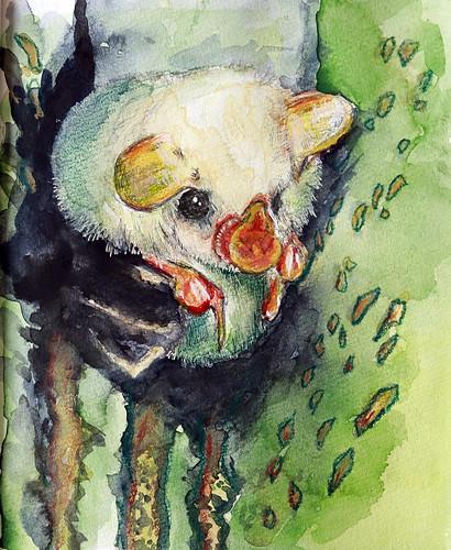Honduras white bat painting