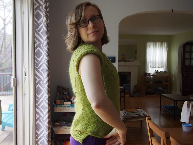 sweater progress side view