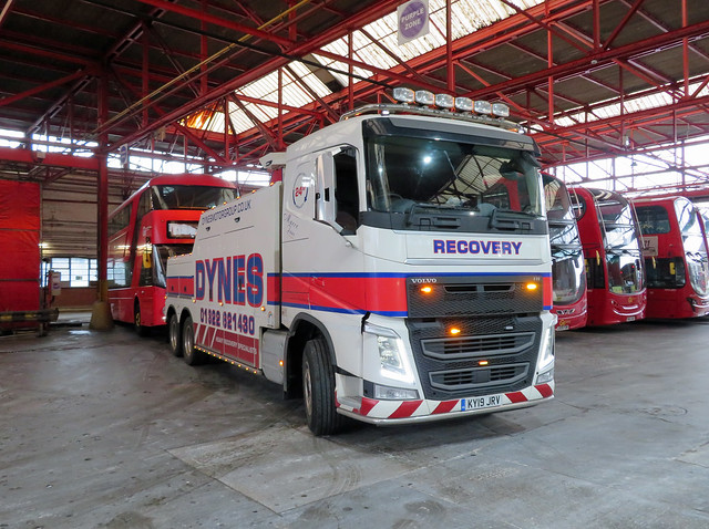 DYNES RECOVERY - KY19JRV - OSF2 - BX BEXLEYHEATH BUS GARAGE - MON 15TH MAR 2021