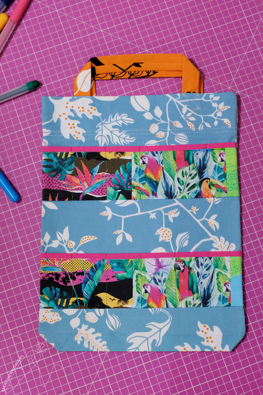 marchewkowa, szycie, krawiectwo, rękodzieło, dla dzieci, torebka na przybory do rysowania, sewing, handmade, DIY, crayon and coloring book tote, for kids
