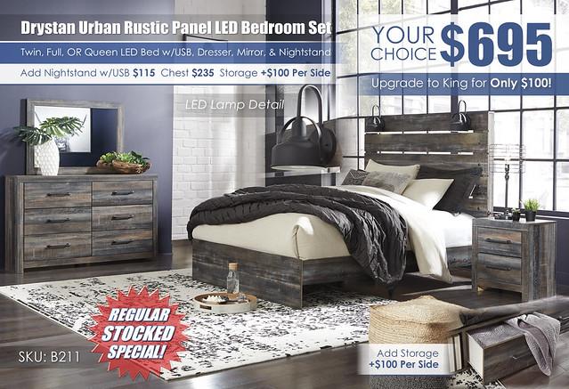 Drystan Panel Bedroom Set wLED & USB_B211-31-36-57-54-96-92_2021_Update