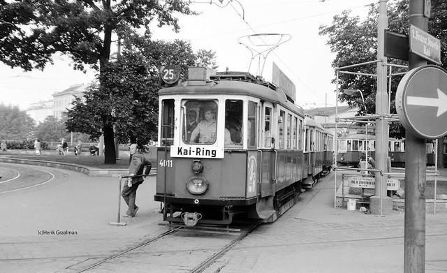 Stassenbahn Garnitur der Line 25