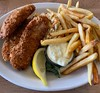 Got a shellfish allergy so my seafood dining option is often fish and chips. At Lowell's in Pike Place. #fishandchips #seafood #pikeplacemarket #seattle #seattlefood #seattleeats