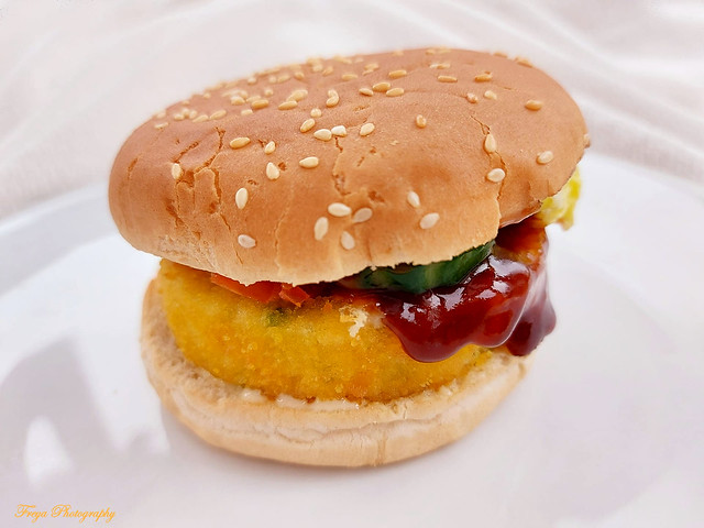 Veggie burger...