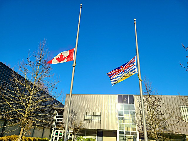 Flags at half mast to honour HRH Prince Philip