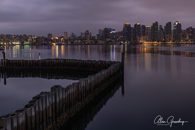 San Diego just before dawn