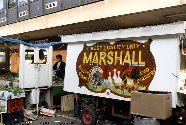 Market Stall, Marshall, Tachbrook St, Pimlico, Westminster, 1987,