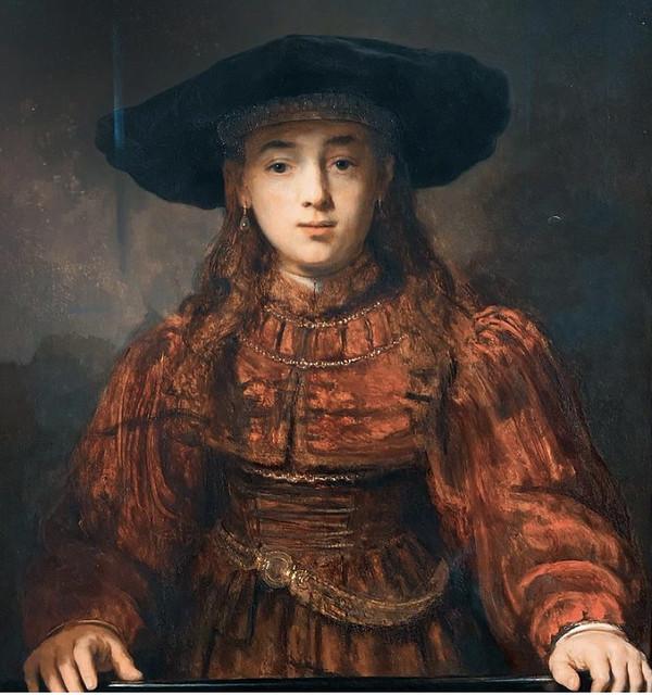 Rembrandt-girl in a frame, 1641