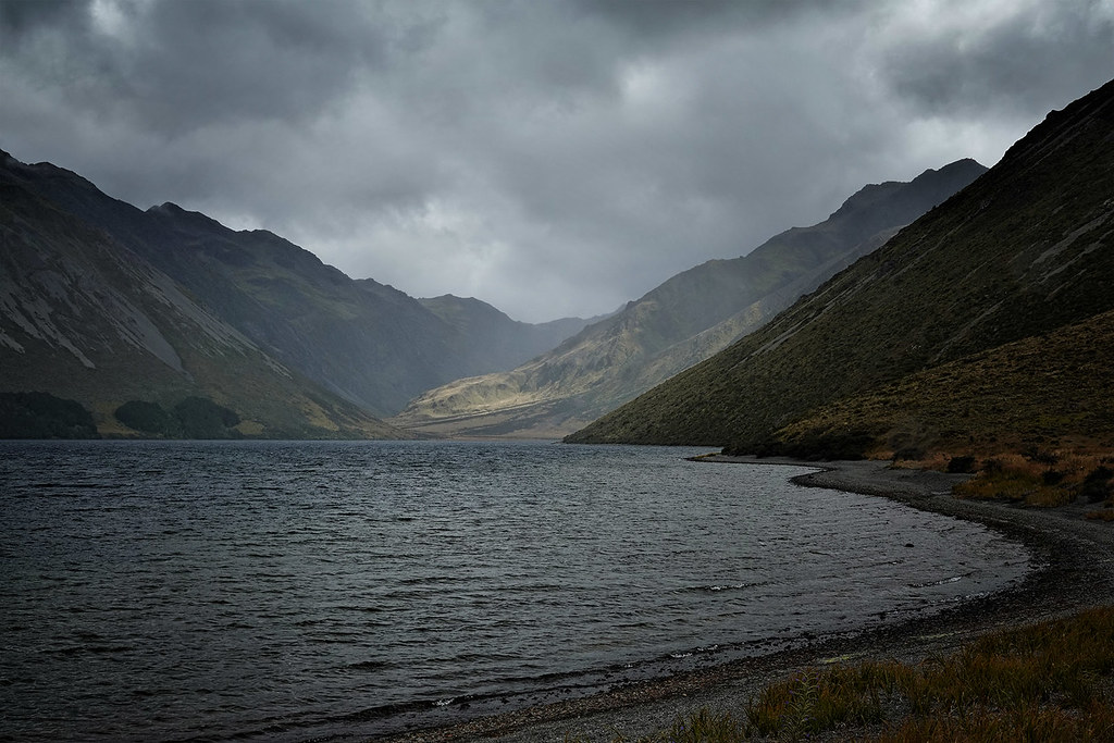 Storm clouds over Lake Tennyson