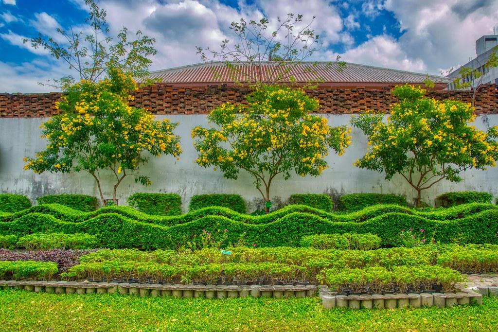 Rommaninat Park on Rattanakosin island (Old Town) in Bangkok, Thailand